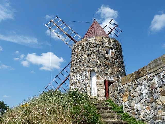 Wind power in Portugal.