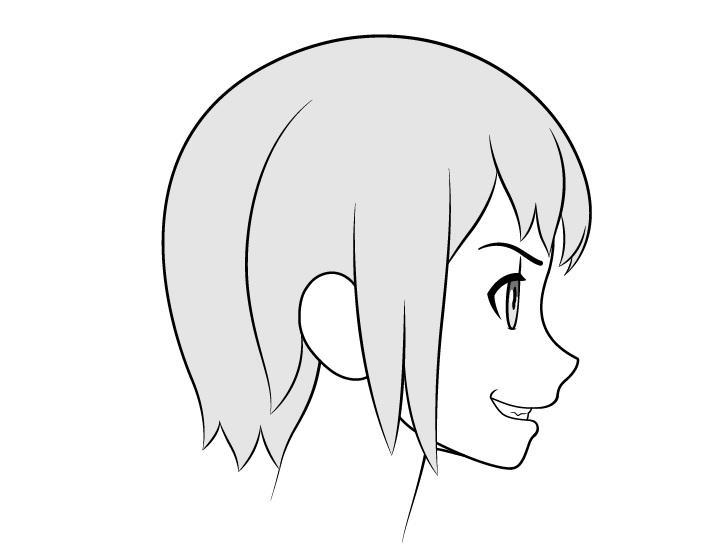 Gambar senyum sisi gigi anime