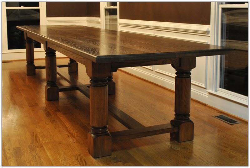 Large Wood Dining Room Tables: Turner Custom Furniture: A Very Large Custom Dining Table