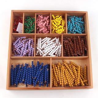 Beads untuk pembelajaran montessori