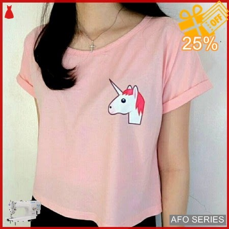 AFO090 Model Fashion Unicorn Tee Modis Murah BMGShop