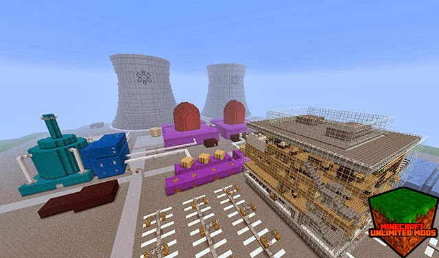 Los Simpson Springfield Mapa Minecraft central nuclear