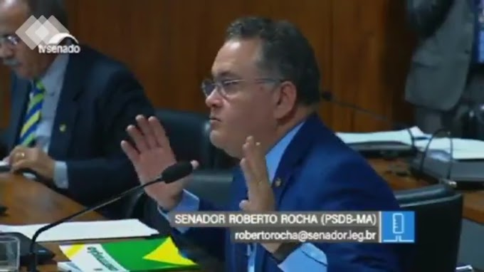 Roberto Rocha defende Moro no Senado