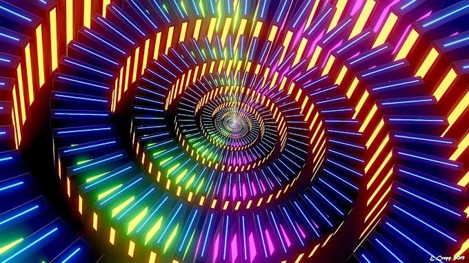 Papel de Parede, Abstrato, Colorido, Neon