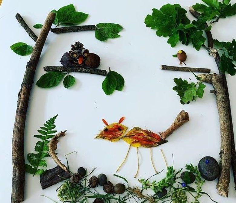 woodland leaf craft