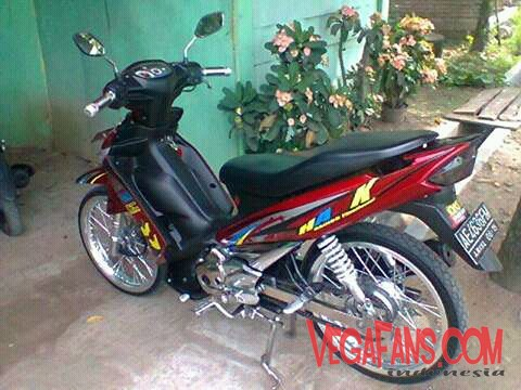 Vega ZR Modif Simple Elegan Merah 3