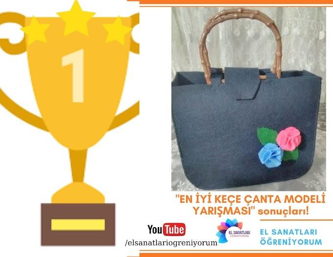 En iyi keçe çanta modeli yarışması sonucu açıklandı!