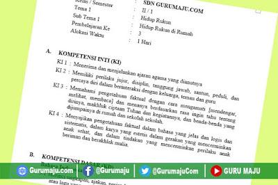 RPP Kelas 2 Tema 1 Kurikulum 2013 Revisi Tahun 2021