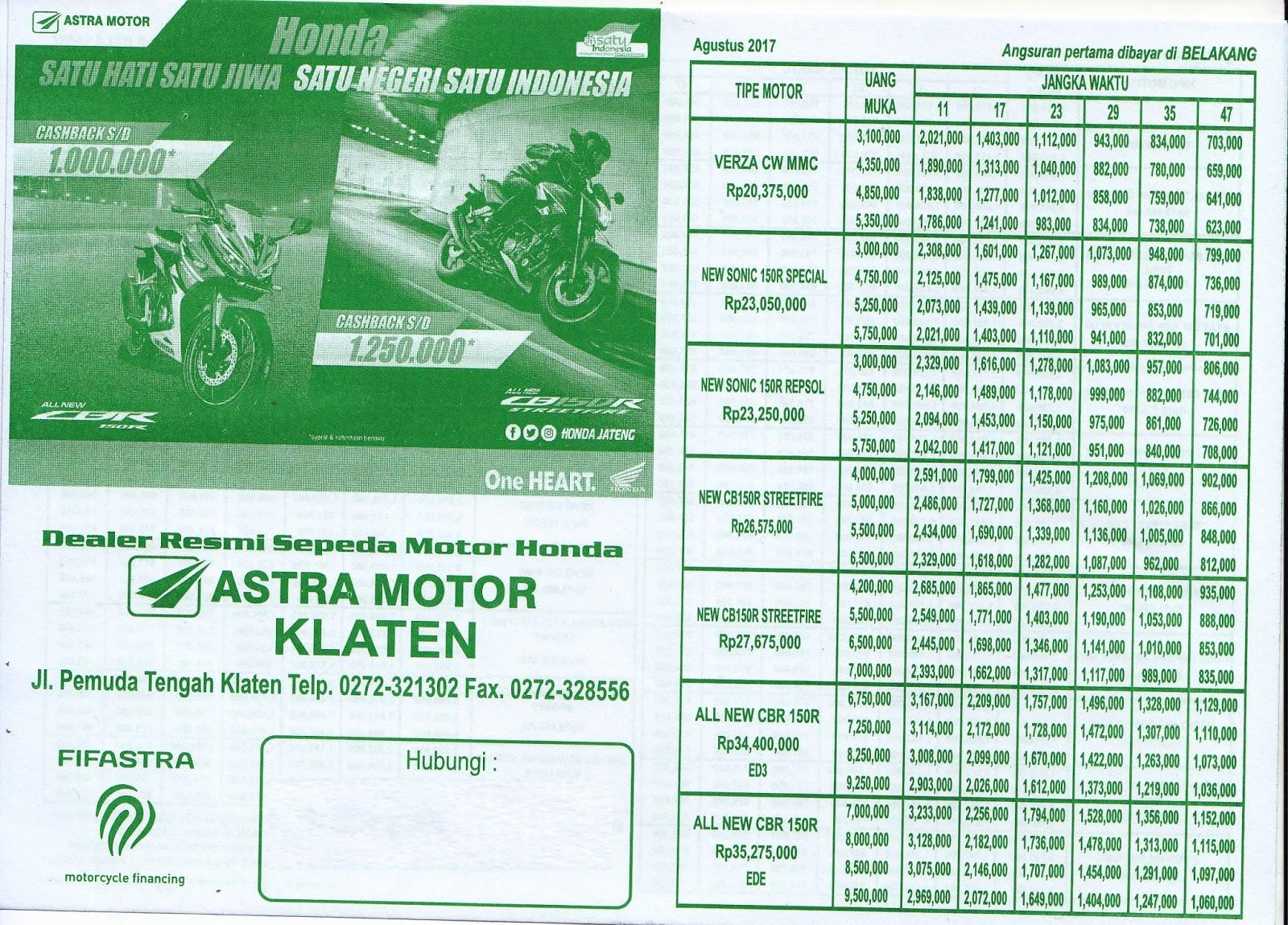 Astra Motor Klaten: - BROSUR KREDIT