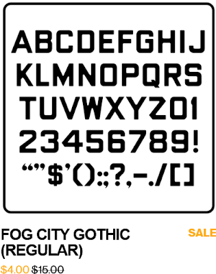FOg City Gothic sample