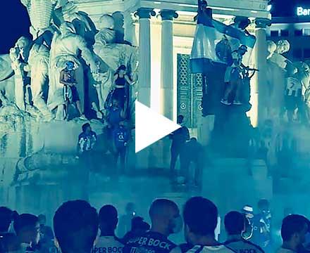 Porto adeptos,festejos,pandemia,2020,video,