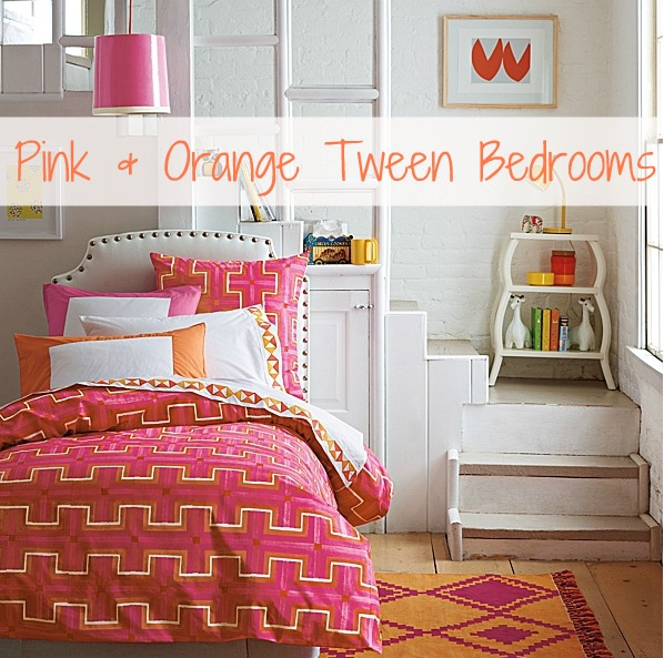 Pink And Orange For A Girl's Bedroom