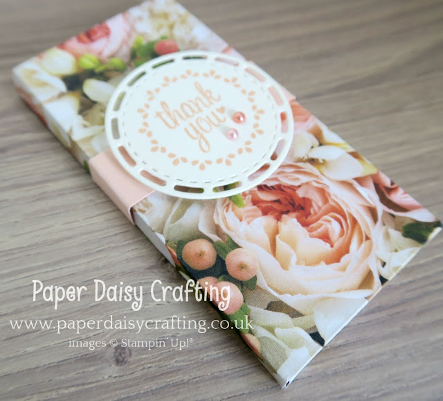 Envelope punch board chocolate box with Petal Promenade