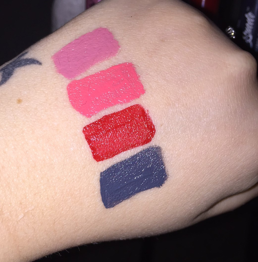 Nyx Liquid Lipstick Swatches