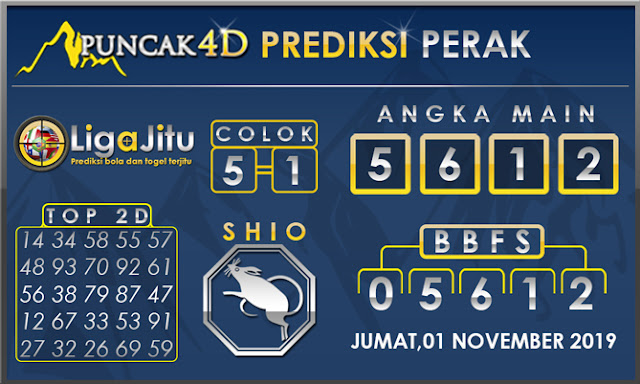 PREDIKSI TOGEL PERAK PUNCAK4D 01 NOVEMBER 2019
