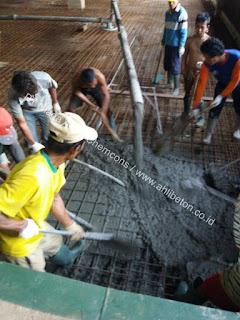 pemasangan beton integral kedap air