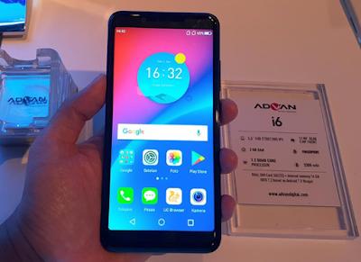 advan i6 smartphone dengan layar fullview display