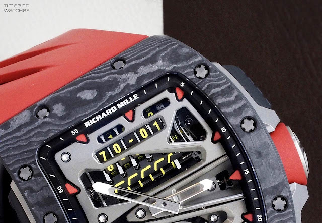 Richard Mille RM 70-01 Tourbillon Alain Prost, the odometer
