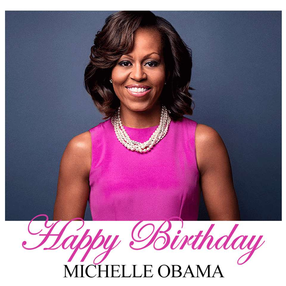 Michelle Obama's Birthday Wishes Pics