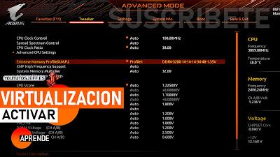 activar virtualizacion