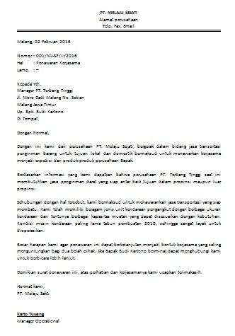 Contoh Surat Permohonan Kerjasama Bisnis Cara Buat Surat