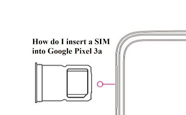 How do I insert a SIM into Google pixel 3a?