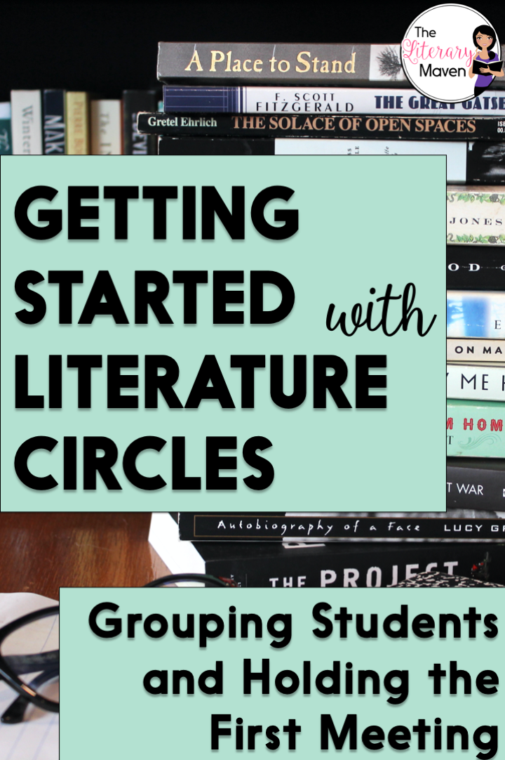 Create literature circle discussion groups, in which students will feel comfortable sharing and build excitement with their first group meeting.
