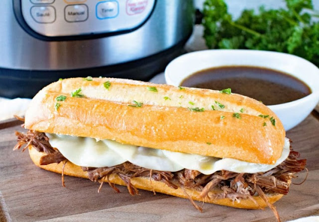 Instant Pot French Dip Sandwich #dinner #breakfast