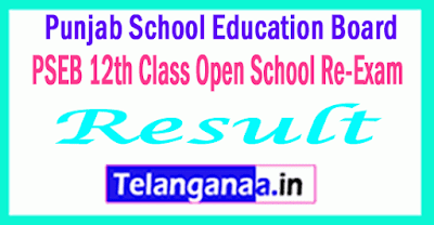 PSEB 12th Class (Open School Re-Exam) Exam Compartment Result