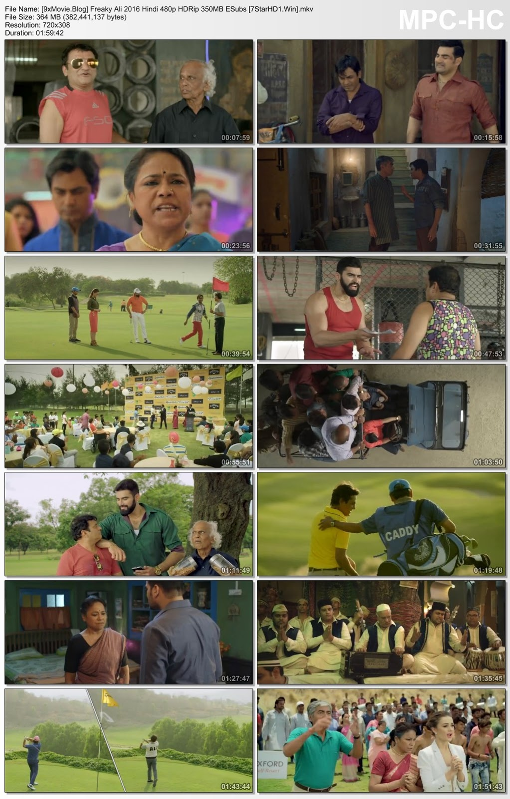 Freaky Ali 2016 Hindi 480p HDRip x264 350MB ESubs