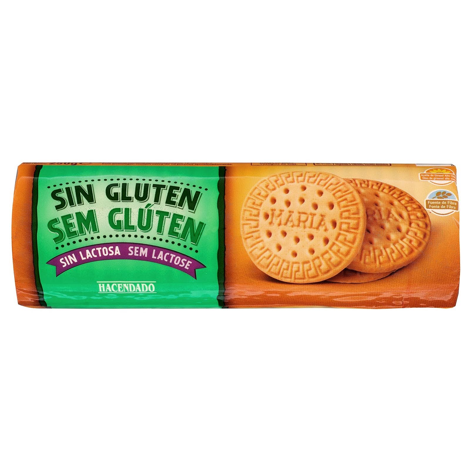 Galletas María sin gluten sin lactosa Hacendado