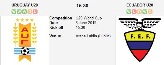 uruguay u20 vs ecuador u20 live
