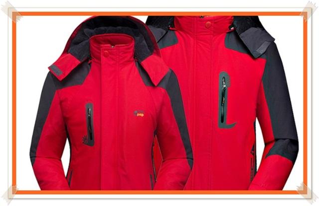foto desain jaket parasit couple merah hitam