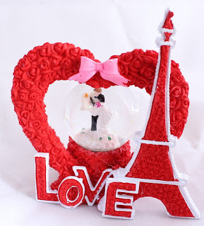 Valentine Gifts Snow Globe Dome by Lilone