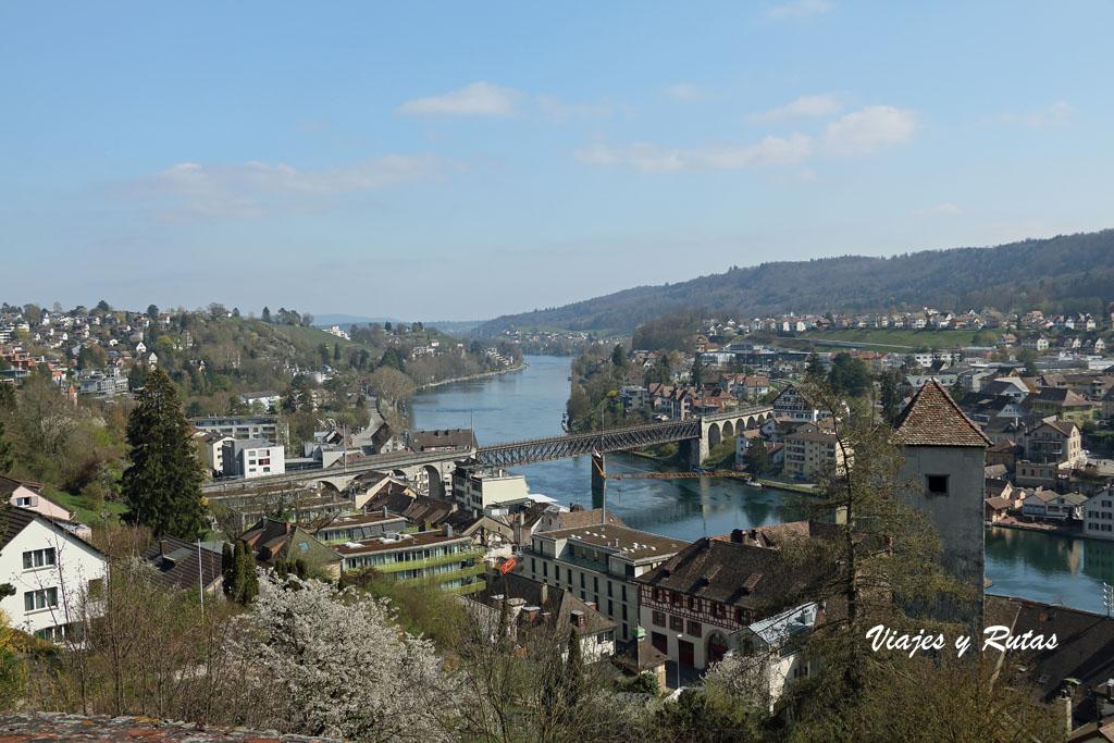 Vistas desde la fortaleza Munot de Schaffhausen