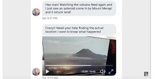 Benarkah Ada Asteroid Menabrak Gunung Merapi Sebelum Erupsi Seperti Dalam Video LIVE STREAM - UPDATES - Mt MERAPI ERUPTS TODAY?
