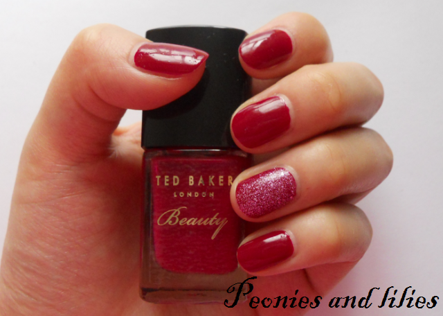 Ted baker cherry bomb NOTD, Ted baker cherry bomb swatch, Ted baker sugar rush swatch, Ted baker cherry bomb nail duo review