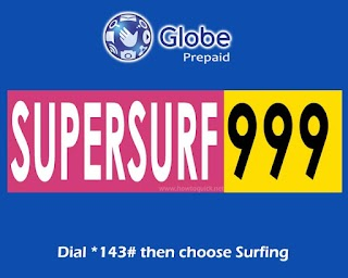 SUPERSURF999 - 30 Days Unli Internet Promo (with FUP) for Globe and TM