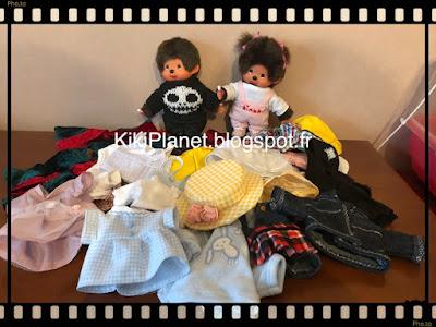 vêtements pour kiki et monchhichi fait main handmade couture