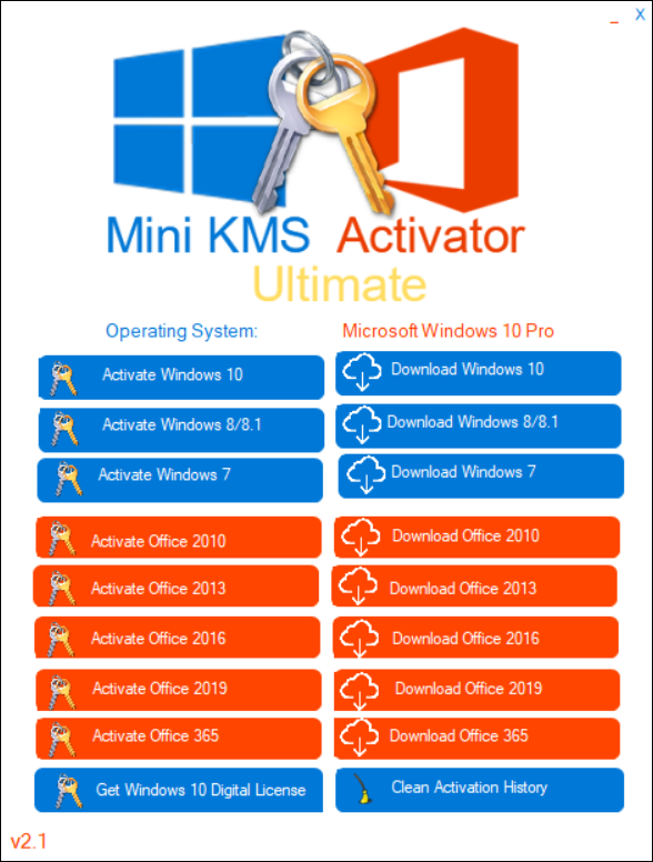 Screenshot Mini KMS Activator Ultimate 2.1