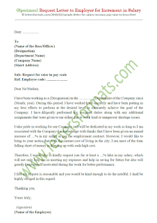 salary increment request letter from employee to employer