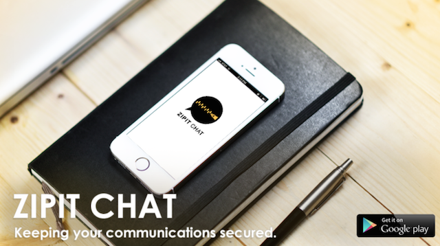 ZIPIT CHAT, The Most Secure Communication App Using Military-Grade AES256 Encryption