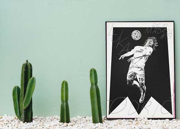 posters, futbol, cuadros, decoración, futbolistas,