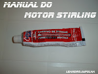 "Manual do motor Stirling, cola de silicone de alta temperatura ""300 C°"""