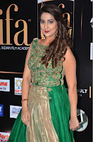 Manjusha in Beautiful Sleeveless Green Anarkali dress at IIFA Utsavam Awards 31.JPG