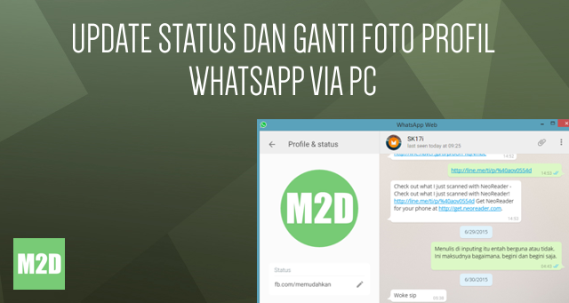Update Status dan Ganti Foto Profil WhatsApp via PC