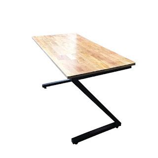 bàn ghế khung sắt mặt gỗ