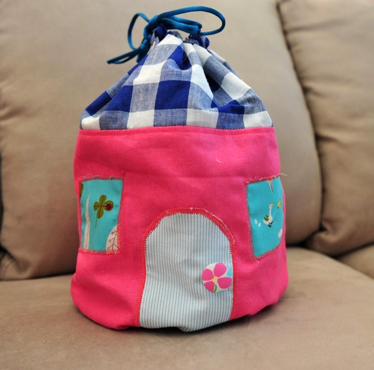 Drawstring Pouch Bag Free Sewing Pattern & Tutorial