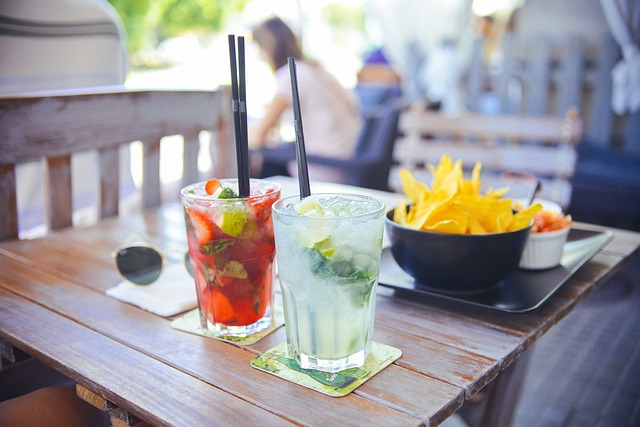Photo of Cocktails and Chips with Salsa