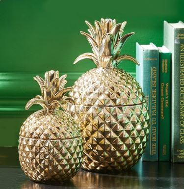 accent home decor brass pineapple